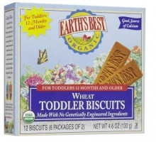 Earth's Best Wheat Free Toddler Biscuit (12x4.6 Oz)