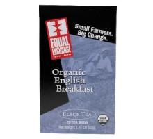 Equal Exchange negro, té de desayuno inglés (6 x 20 bolsa)