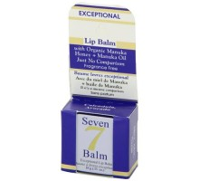 Seven 7 Lip Balm With Manuka Honey Fragrance Free .35 Oz (1 Case)