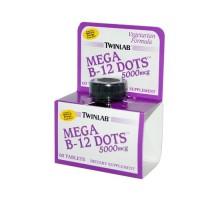 Twinlab Mega B-12 Dots 5000 Mcg (60 Tablets)