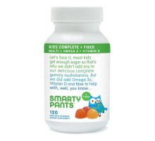 Smarty Pants Multivitamin Kids Fiber Complete Gummy 120 Ct