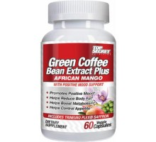 Top Secret Nutrition Green Coffee Bean Extract Plus African Mango (60 Veg Capsules)