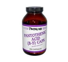 Twinlab pantoténico ácido B-5 Caps 500 Mg (1 x 200 cápsulas)