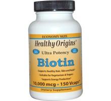 Origen sano Biotin 10.000 Mcg (150 Vcaps)