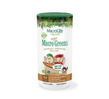 Macrolife Naturals Macro Jr. Coco-verdes para niños Chocolate 14 Oz