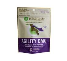 Naturales del animal doméstico de Vermont agilidad Dmg hueso forma mastica para perros pollo hígado 120 tabletas masticables