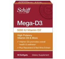 Schiff Vitamins Mega D3 5000 Iu (90 Softgels)