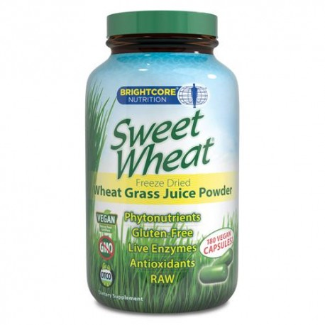 Sweet Wheat Freeze Dried Wheat Grass Juice Powder 180 Caps