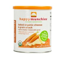 Happy Baby Happy Munchies Baked Organic Snacks Cheddar Cheese With Carrots (6 Pack) 1.63 Oz
