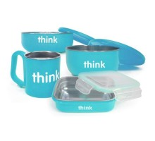 Thinkbaby Feeding Set Bpa Free Light Blue