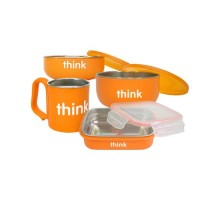 Thinkbaby Feeding Set Bpa Free Orange