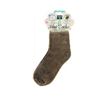 Earth Therapeutics Socks Infused Socks- Brown Pair