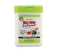 Quantum Buzz Away Extreme Repellent Pop-up Towelette Dispenser 25 Towelettes