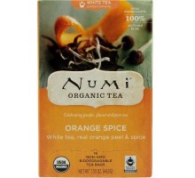 Té Numi Orange Spice té blanco (6 x 16 bolso)