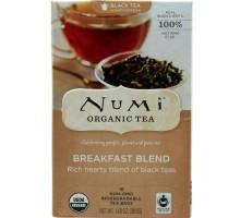 Numi Breakfast Blend negro té (6 x bolsa de 18)