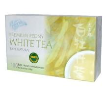 Príncipe de paz Peony blanco té (1 x bolsa de 100)
