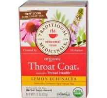 Té de hierbas tradicionales medicinales limón garganta de equinácea (6 x 16 bolso)