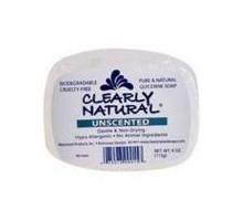 Claramente Naturals jabón de glicerina sin perfume (1 x 4 Oz)