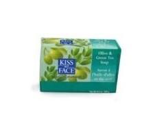 Beso mi cara oliva y jabón de barra de té verde (1 x 8 Oz)