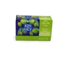 Beso mi cara jabón de barra pura de aceite de oliva (1 x 4 Oz)