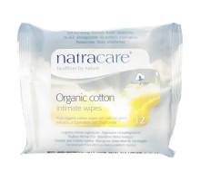 Toallitas de algodón Natracare íntimo (Ct 12 x 12)