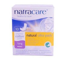 Natracare Ultra Long Pads With Wings (1x10 Ct)