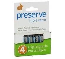 Conservar las hojas de afeitar Triple recarga (6 x 4 Pk)