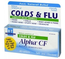 Boericke & Tafel alfa Cf resfriado gripe pestañas (1 x 40 Tab)