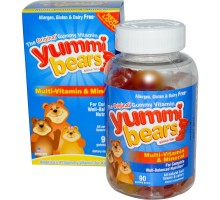 Hero Nutritionals Yummi osos Multi vitamina y Mineral (1 x 90 osos)