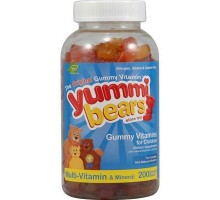 Hero Nutritionals Yummi osos Multi vitaminas y minerales (1x200bears)