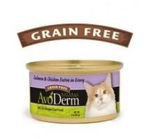 Salmón Natural Avoderm y plato de pollo en salsa comida para gatos (24 x 3 Oz)