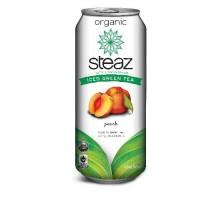 Steaz energía melocotón helado té verde (12 x 16 Oz)