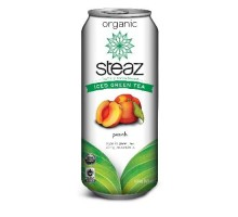 Steaz Energy Peach Iced Green Tea (12x16 Oz)