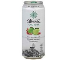 Cal de energía Steaz & Granada helado té verde (12 x 16 Oz)