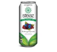 Steaz energía Org arándano Pomegrte Acai helado té verde (12 x 16 Oz)