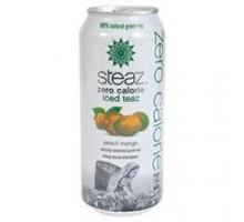 Steaz cero calorías durazno Mango helado té (12 x 16 Oz)