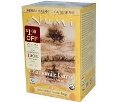 Manzanilla de Numi té limón, té de hierbas (3 x bolsa de 18)