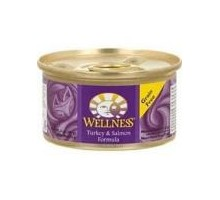 Wellness Canned Turkey Salmon Cat Food (24x5.5 Oz)