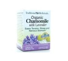 Medicinales tradicionales 100% W de té de manzanilla/lavanda (3 x 16 bolso)