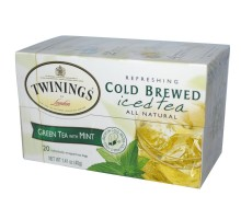 Twinings frío colar el té verde con menta helado té (6 x 20 bolsa)