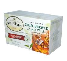 Twinings frío colar inglés clásico té helado (6 x 20 bolsa)
