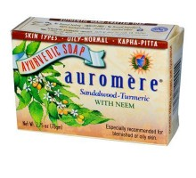 Sandalia de Auromere cúrcuma jabón (1x2.75 Oz)
