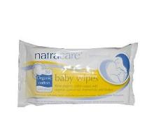 Toallitas de bebé de algodón orgánico de Natracare (1 x 50 Ct)