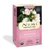 Numi té orgánico blanco hoja rosa, completa blanco té (6 x 16 bolso)