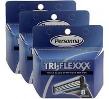 Cartucho de afeitar americana de seguridad Tri Flex (1 x 8 Ct)