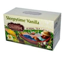 Té de hierbas de condimentos celestiales Sleepytime vainilla (6 x 20 bolsa)