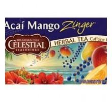 Té de hierbas de condimentos celestiales Acai Mango Zinger (6x20bag)