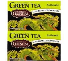 Té verde auténtico (6 x 20 bolsa) condimentos celestiales