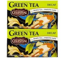 Condimentos celestiales descafeinado de té verde (6 x 20 bolsa)
