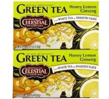 Condimentos celestiales miel limón Ginseng té verde (6 x 20 bolsa)